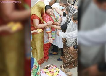અકસ્માતમાં 3ના મોત:મૃતક અશોક ગૌદાણીનો મૃતદેહ વરાછાસ્થિત ઘરે આવ્યો... ને પત્ની સહિત પરિવારે ભારે આક્રંદ કર્યું